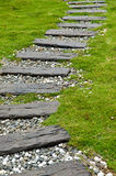 Wooden Stepping Pathway Stock Photos