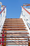 Wooden steps and blue sky Royalty Free Stock Photography