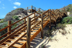 Wooden Steps Moses Rock south western Australia Stock Photos