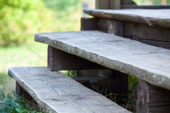 Wooden Steps Of Porch Veranda Royalty Free Stock Images