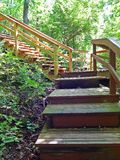 Wooden Steps in Park Royalty Free Stock Photos