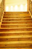 Wooden steps to light Royalty Free Stock Image
