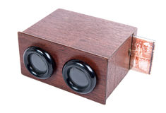 Wooden stereoscope with glass plates Stock Photography