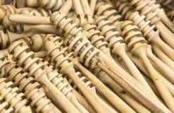 Wooden stick for honey Stock Photos