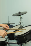 Wooden sticks beat the drums Stock Images