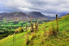Wooden Stile On Low Fell Royalty Free Stock Photography