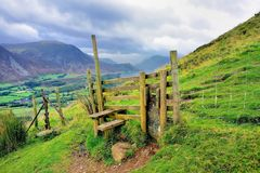Wooden Stile On Low Fell Stock Images