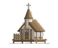 Wooden Stilt Church on Pier Royalty Free Stock Photography
