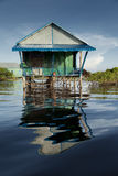 Wooden stilt house Royalty Free Stock Images