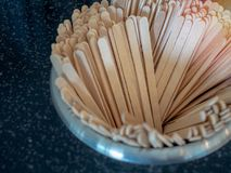 Wooden stir sticks royalty free stock image