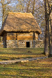 Wooden and stones barn in the forest Royalty Free Stock Photos