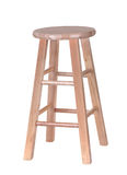 Wooden Stool. Wood stool isolated on a white background Stock Photo