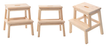 Wooden stool Stock Image