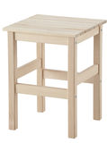 Wooden stool. Clipping path. Stock Images