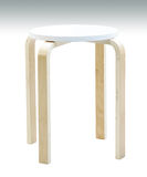Wooden stool isolated with clipping path Royalty Free Stock Photos