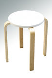 Wooden stool isolated with clipping path Stock Images
