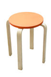 Wooden stool isolated with clipping path Royalty Free Stock Image