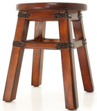 Wooden Stool with Leather Supports Stock Photos