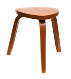 Wooden stool. Old wooden stool isolated on white background Stock Photo