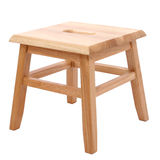 Wooden Stool Over White Stock Photography