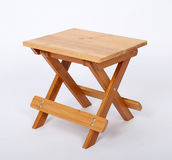 Wooden Stool Over White Royalty Free Stock Images