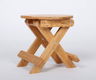 Wooden Stool Over White Royalty Free Stock Image