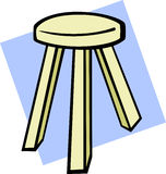 Wooden stool seat vector illustration Stock Images