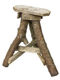 Wooden stool in the ugly Halloween style Stock Photos