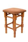 Wooden stool on white background Stock Image