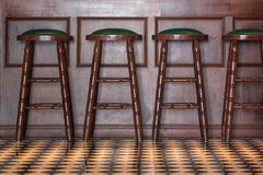 Wooden stools Royalty Free Stock Image