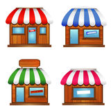 Wooden Storefront Icon Stock Photography