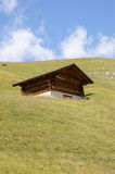 Wooden storehouse in the mountain Royalty Free Stock Images