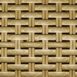 Wooden striped textured basket Royalty Free Stock Images