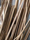 Wooden strips. A background created with stock of wooden strips planks Royalty Free Stock Images