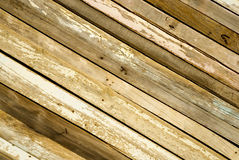 Wooden strips as wall Stock Image