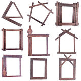 Wooden strips frames Royalty Free Stock Photos