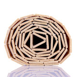Wooden strips wrapped Stock Image