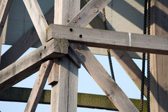 Wooden structure Stock Photo