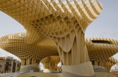 Wooden Structure. Metropol Parasol is a wooden building placed in La Encarnación square, in the old quarter of Seville, Spain. It was designed by the German Stock Photography