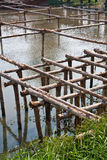 Wooden Structure Bridge Royalty Free Stock Photography