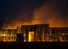 Wooden structure on fire Royalty Free Stock Photography