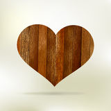 Wooden structure in the form of heart. EPS 8 Royalty Free Stock Image