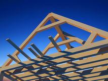 Wooden structure. House against the sky Stock Images