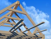 Wooden structure Royalty Free Stock Images
