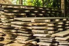 Wooden structure for house building The ancient wood. royalty free stock image