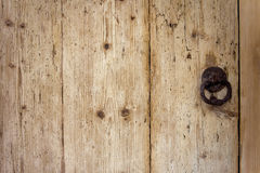 Wooden structure of an old door Royalty Free Stock Photo