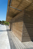 Wooden structure Promenade du Paillon Nice stock photography