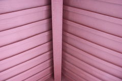 Wooden structure roof for corridor in the park Stock Photo