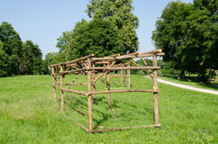 Wooden structure for rural market stall and kiosk Stock Images