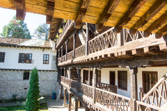 Wooden structures Troyan Monastery in Bulgaria Stock Photo